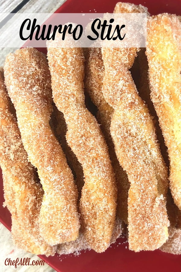 Feather-light, tender puff pastry stix dipped into butter, then rolled in cinnamon-sugar. They melt in your mouth!