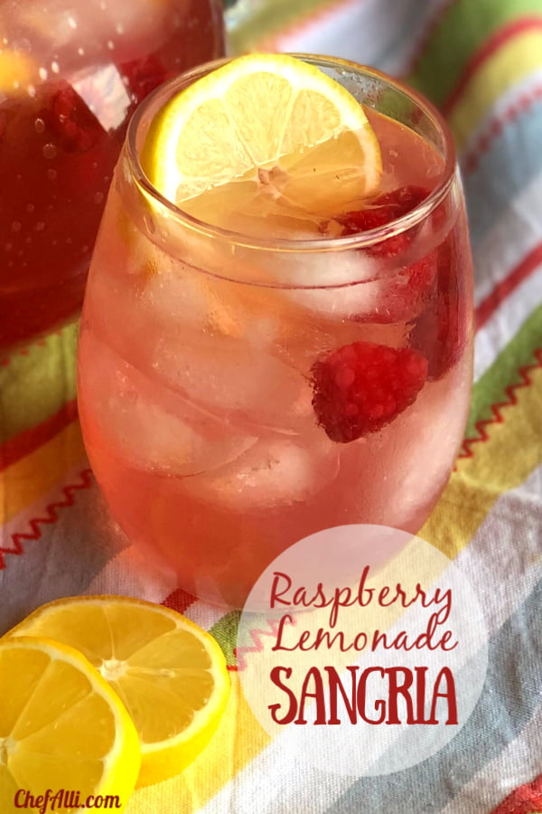Spring has sprung, which means it's time for fresh and refreshing Raspberry Lemonade Sangria!