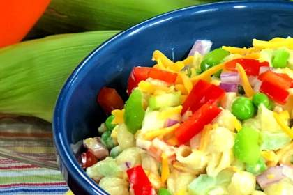 Classic Macaroni Salad - an old-fashioned family favorite that's made with your choice of pasta, lot of fresh vegetables, and a traditional mayonnaise-based dressing. You'll enjoy this creamy macaroni salad recipe all summer long, especially once you discover how quick and easy it is to make - no more trips to the deli!