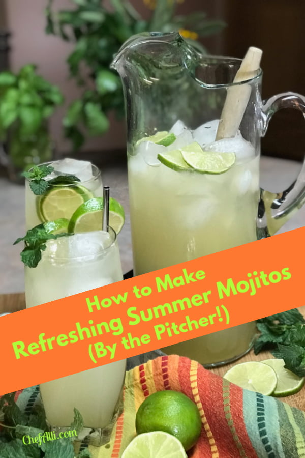 Everyone should make mojitos by the pitcher!