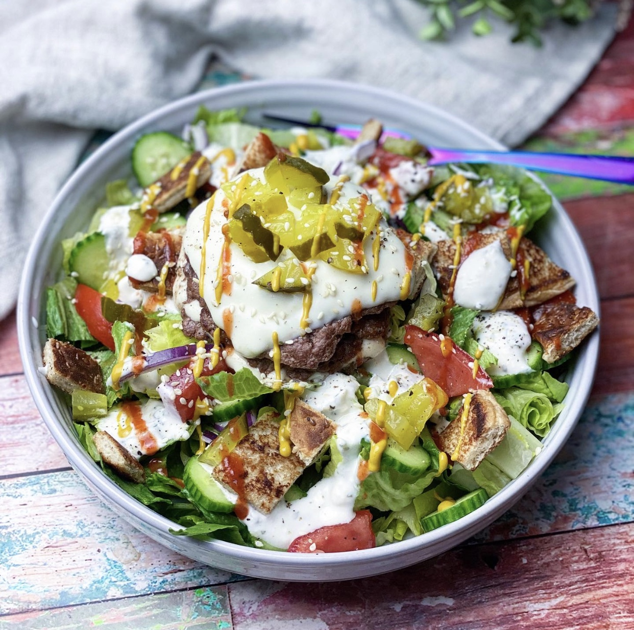 Smash Burger Salad 🍔 🥗