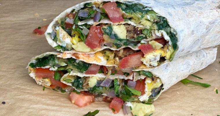 Southwest Veggie Breakfast Burrito Or Flatbread