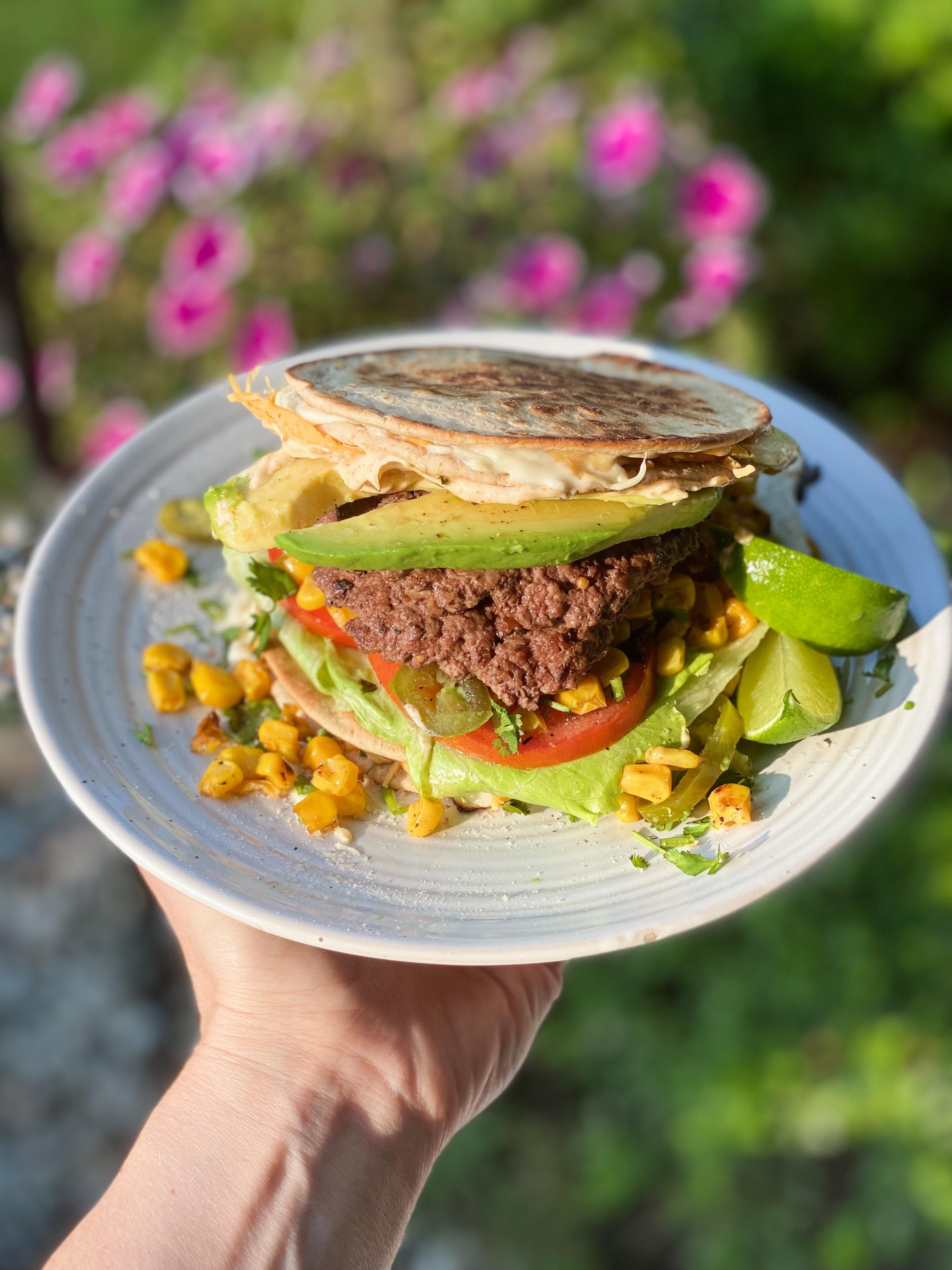 Quesadilla Burger With A Smoky Chipotle Mayo