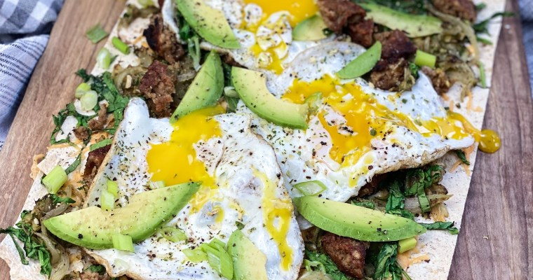 Green Goddess Breakfast Flatbread