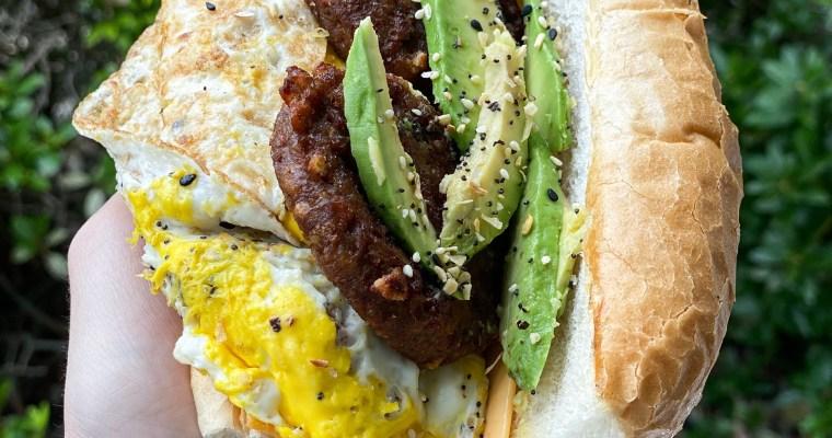Breakfast Sandwich On A Roll