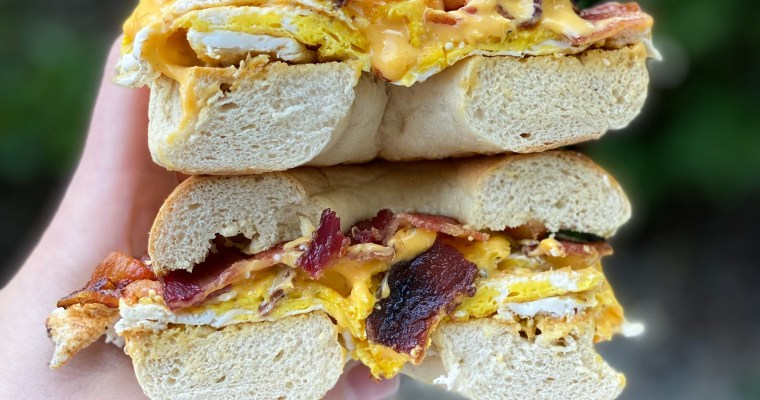 Bacon , Egg & Cheese On A Bagel