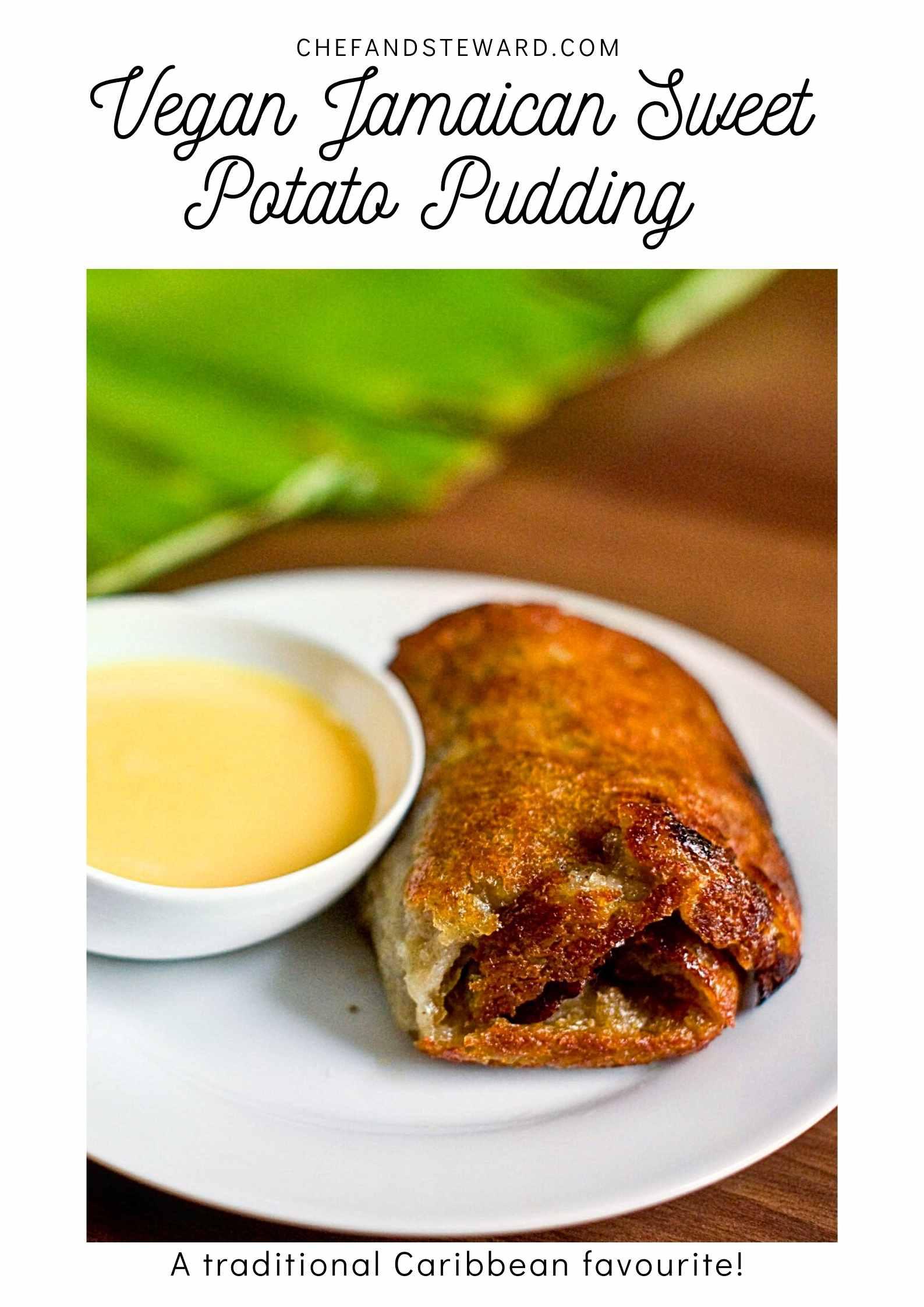 Vegan Jamaican Sweet Potato Pudding Pinterest Pin
