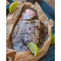 Jamaican Roast Fish en Papillote