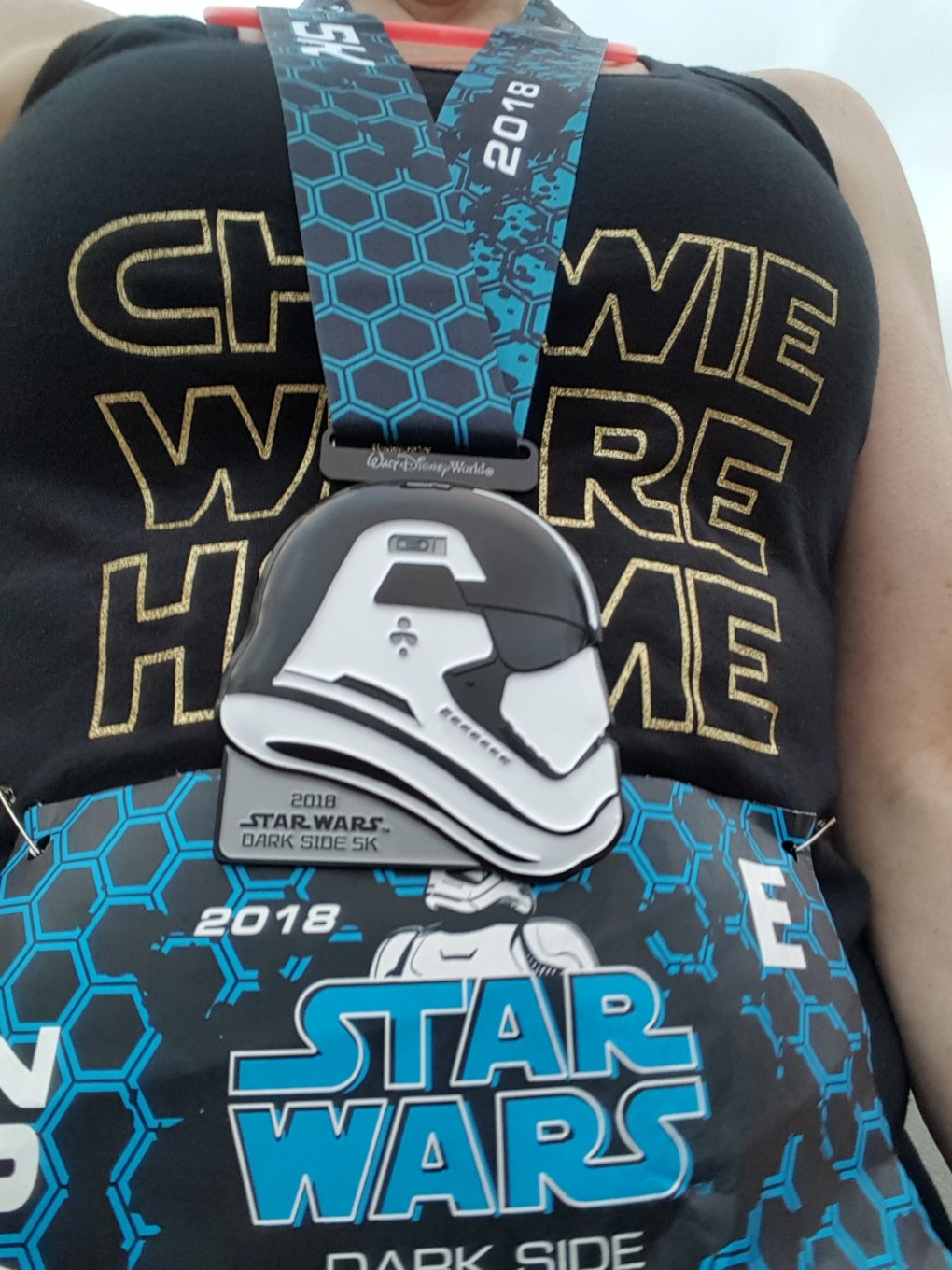 Star Wars Half Marathon - Dark Side 5K medal, April 2018