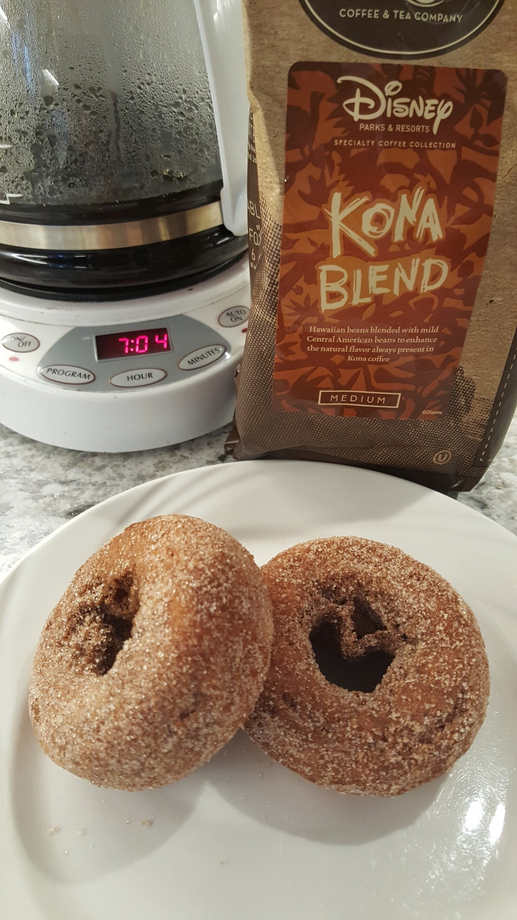 Disney's Kona coffee and donuts