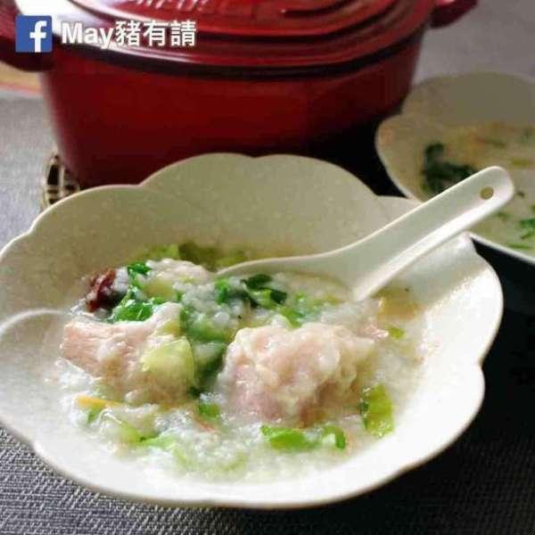 生菜鹹肉粥