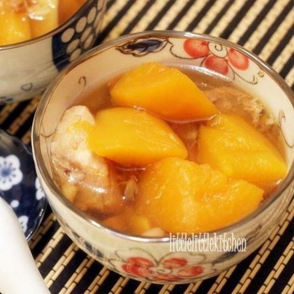 木瓜紅螺頭薏米湯