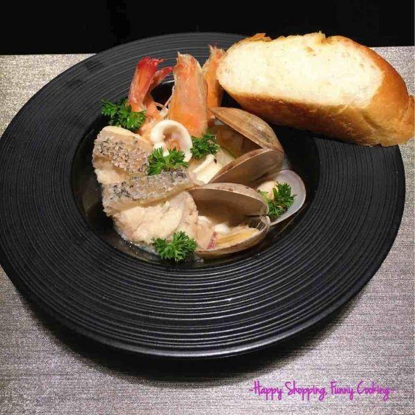 簡易白酒海鮮鍋