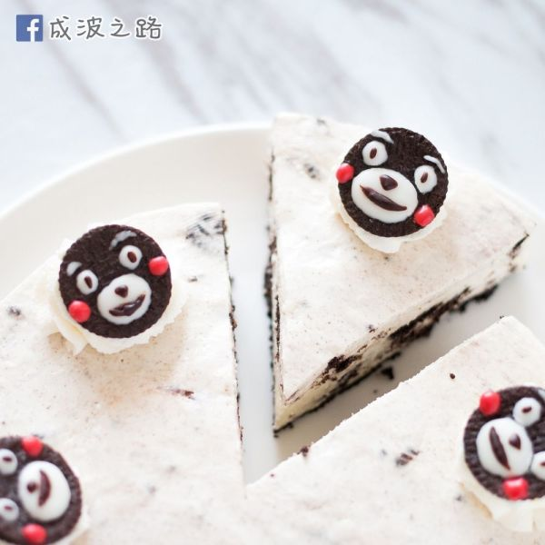 超簡易免焗甜品 - 熊本熊Oreo芝士凍餅