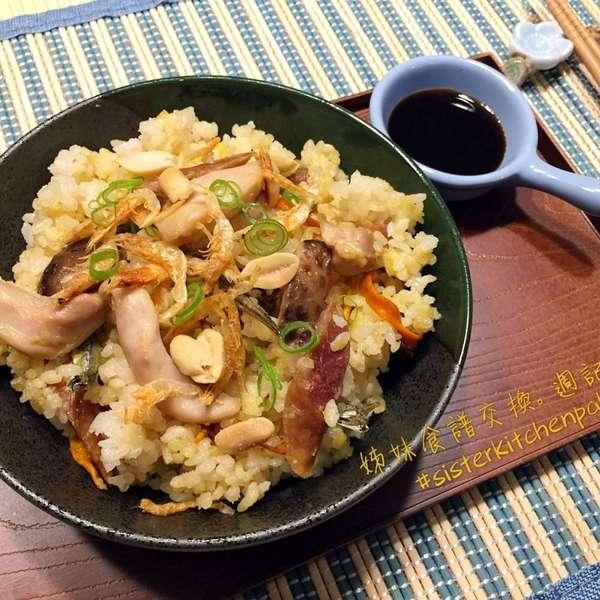 櫻花蝦冬菇雞肉飯