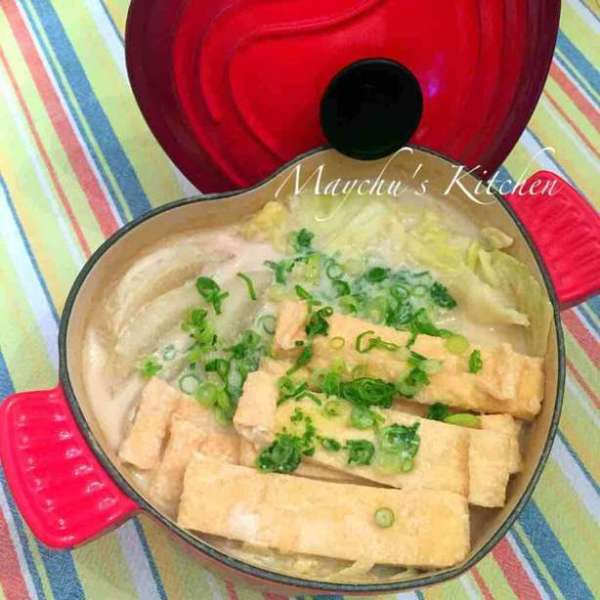 簡易味噌豆乳蔬菜鍋