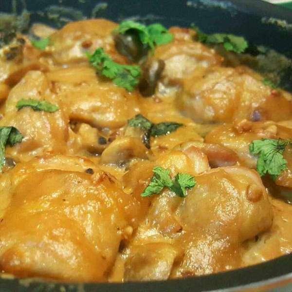 忌廉蘑菇烤雞