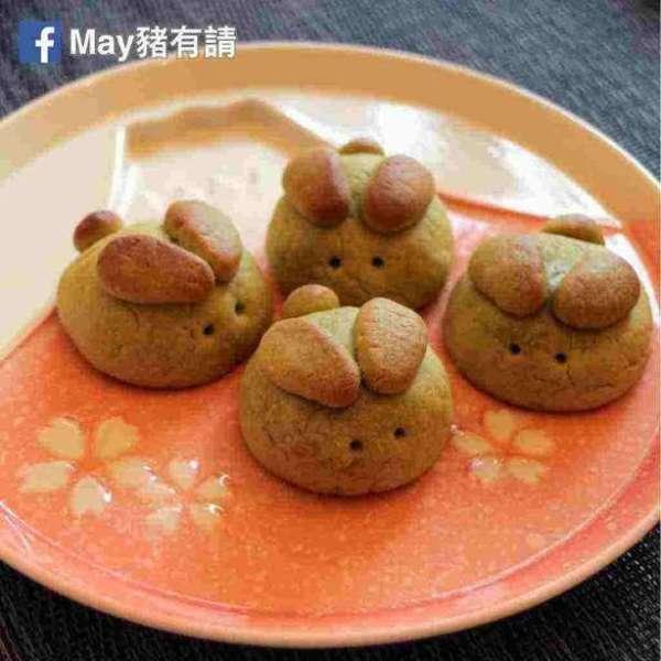 日式酥皮抹茶紅豆月兔