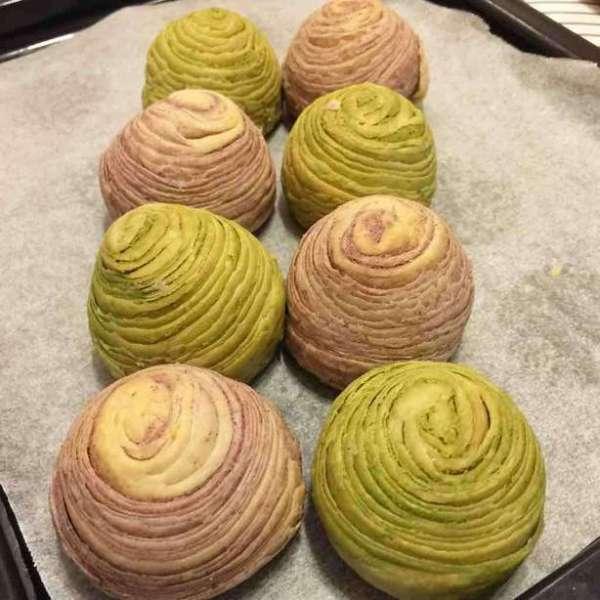 潮式酥餅:紫薯酥,抹茶酥