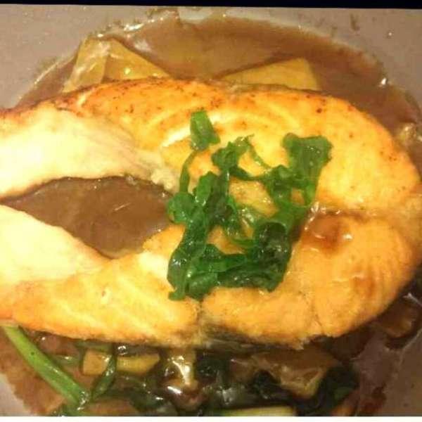 薑蔥焗三文魚