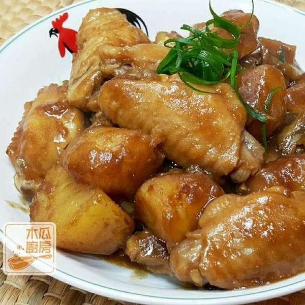 薯仔炆雞翼