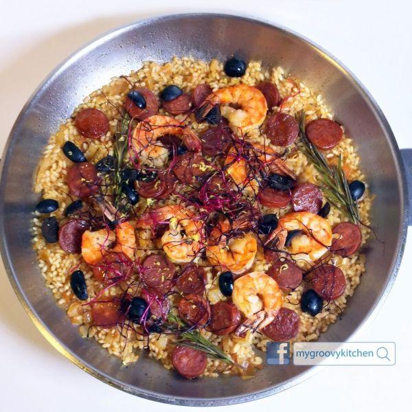 辣肉腸 虎蝦 西班牙海鮮飯