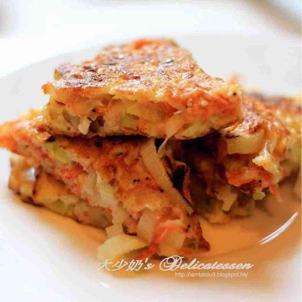 櫻花蝦大蔥煎餅