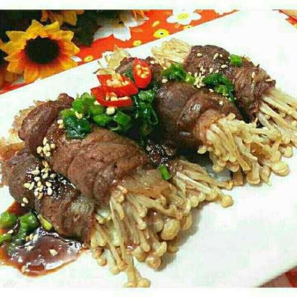 韓式燒汁牛油金菇肥牛卷