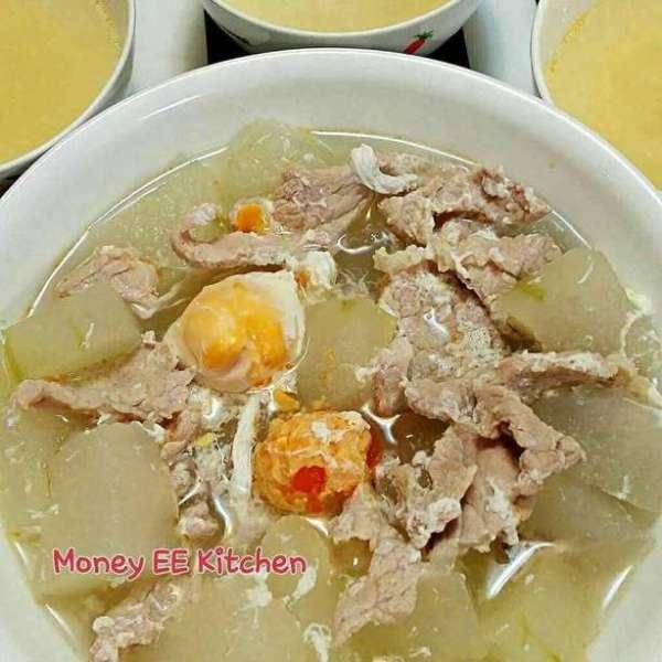 咸蛋冬瓜肉片湯