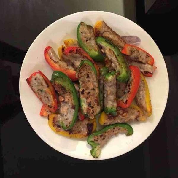 冬菇魚肉釀彩椒