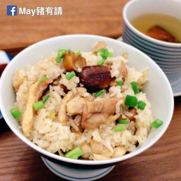 栗子臘腸雞絲蒸飯(電鍋版)
