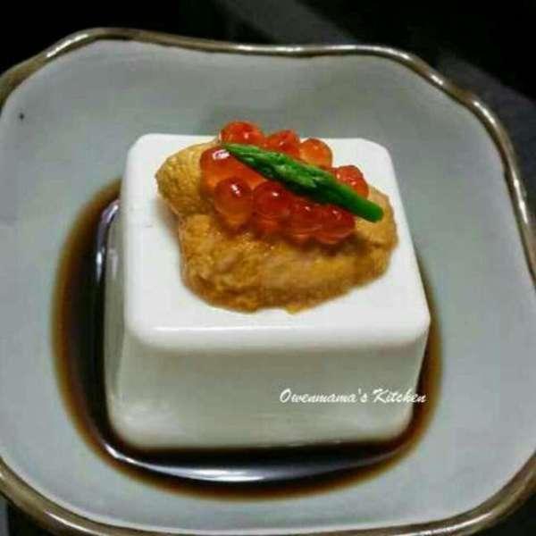 三文魚子海膽凍豆腐