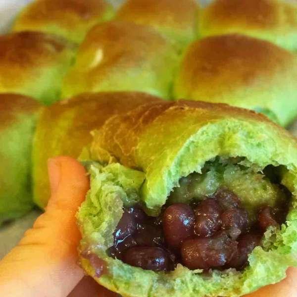 綠茶系列~綠茶紅豆小餐包