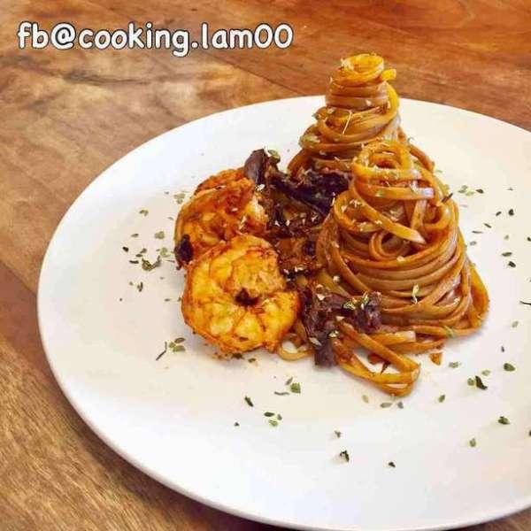 自家蝦汁燴意大利麵