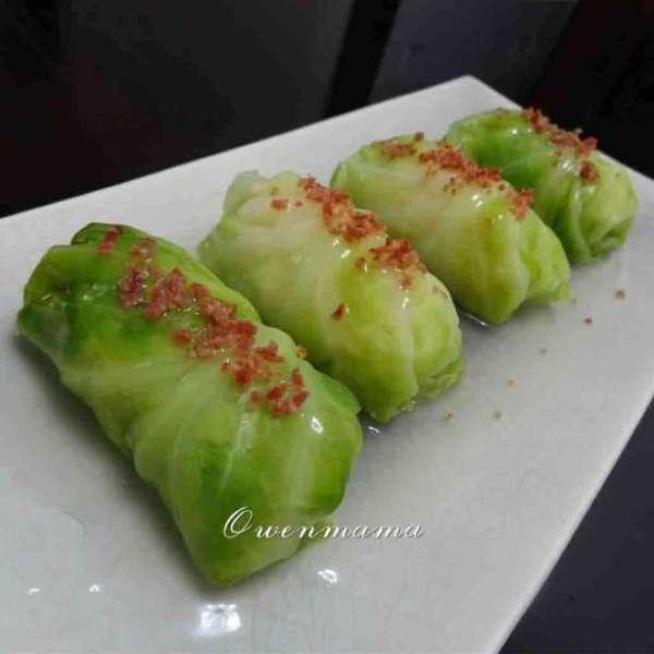 蝦膠椰菜卷