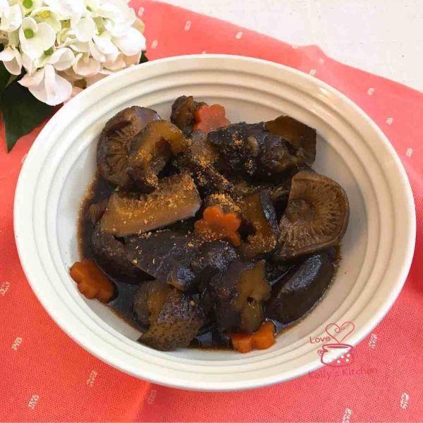 蠔汁蝦籽冬菇炆海參