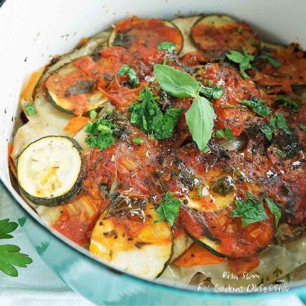 蕃茄茴香醬雜菜千層麵