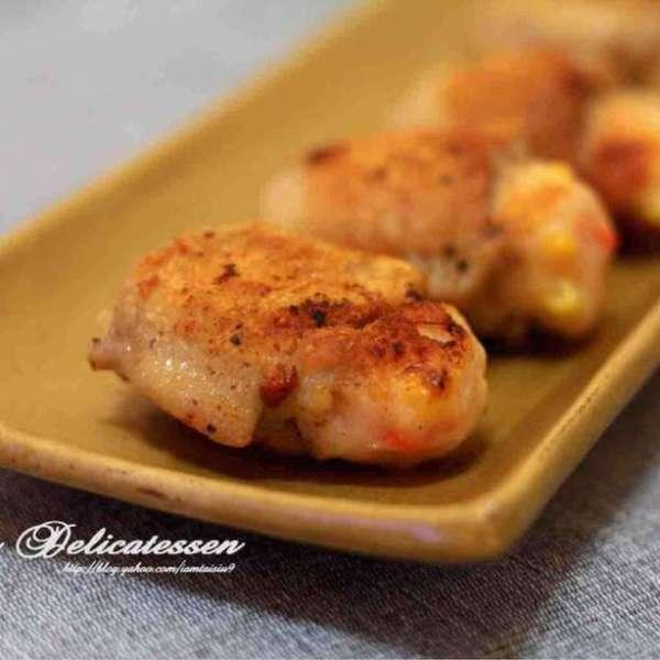 蝦膠釀雞亦