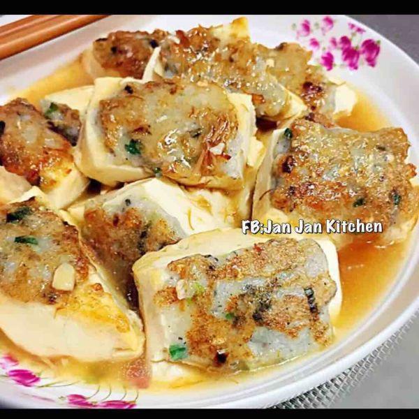 鮑汁鯪魚釀豆腐