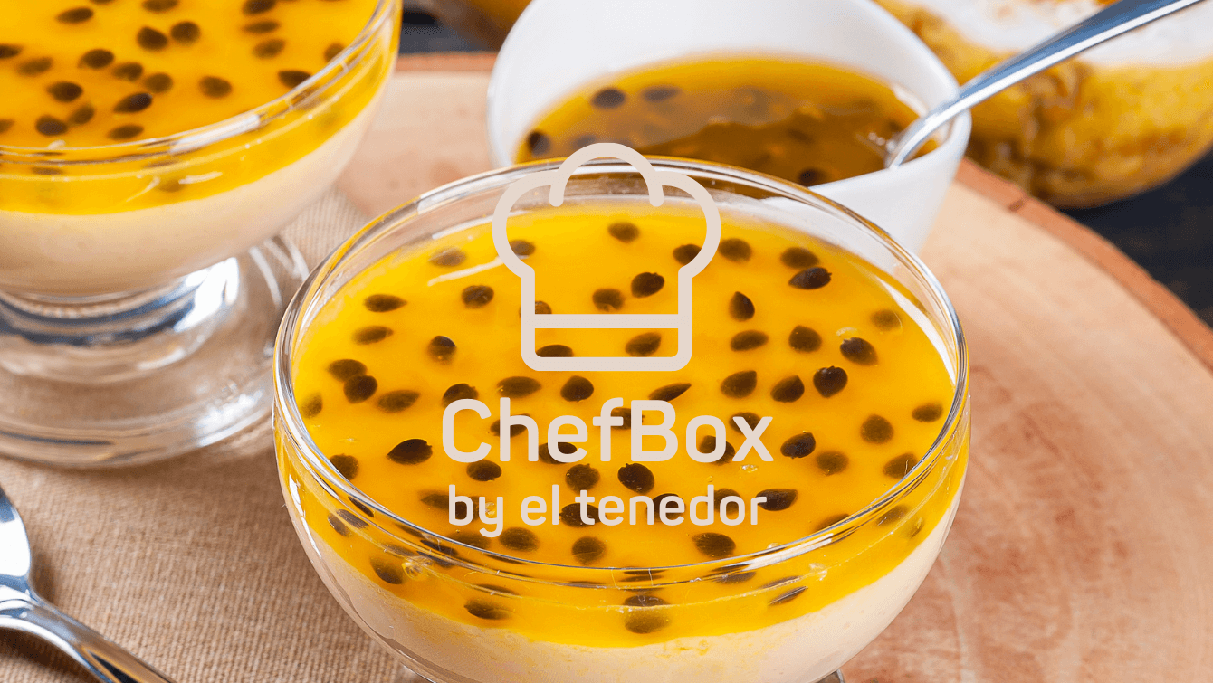 passion fruit dessert in a cup.
