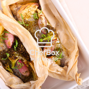 roasted fish in papillote.