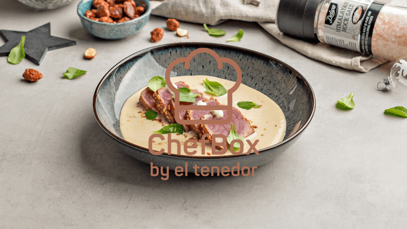 Tuna and ajo blanco soup.