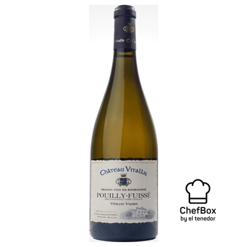 Picture of Chateau Vitallis Pouilly Fuisse Vieilles vignes french bottle of wine.