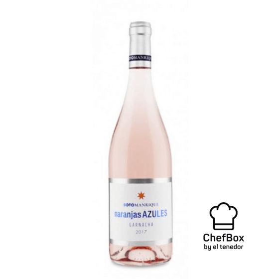Bottle of rose wine.