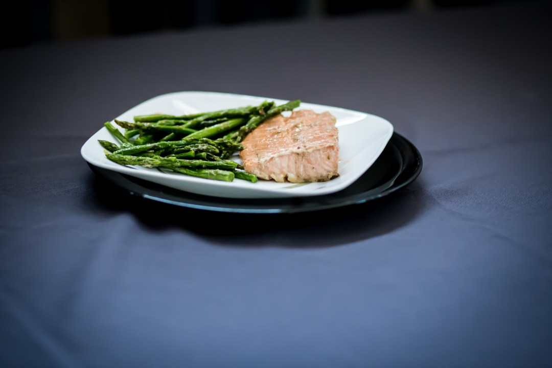 Miso Salmon with Asparagus