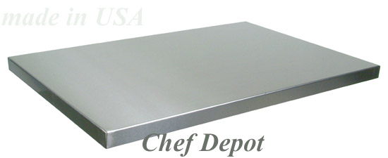 stainless steel island counters