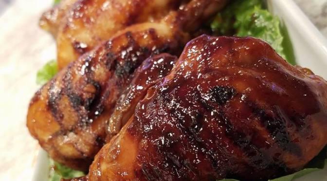 Muslos a la parrilla con BBQ casera