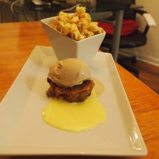 CARAMEL POPCORN/BANANA BREAD/COFFEE ICE CREAM & VANILLA BEAN SAUCE