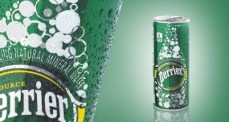 Perrier - Slim Can con sfondo