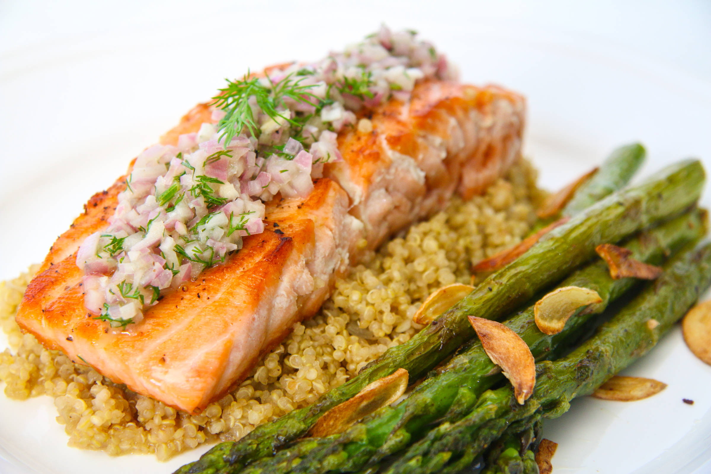 Image result for quinoa with salmon